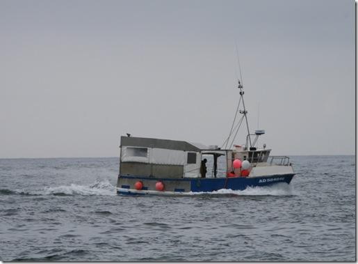 Fiskebåt med påbygg