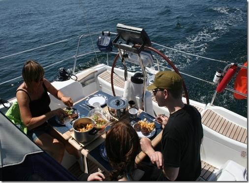 Middag i cockpit