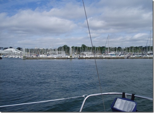 Ut fra havna i Brest