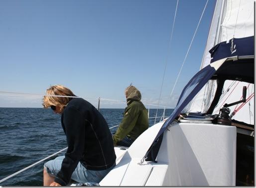 Frisk seilas over norskegrensen